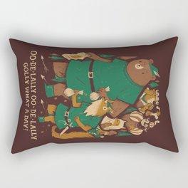 oo-de-lally (brown version) Rectangular Pillow