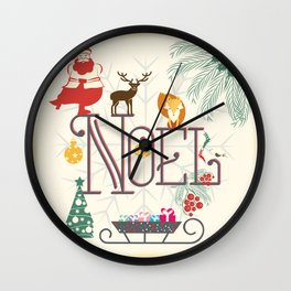 Christmas Noel Wall Clock