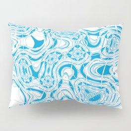 Blue organic abstract Pillow Sham