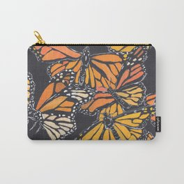 Monarch Print Carry-All Pouch