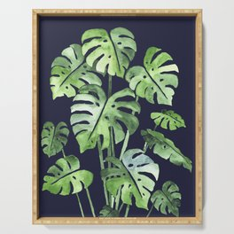 Delicate Monstera Blue #society6 Serving Tray