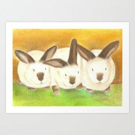 The Radical Rabbit Sisters Art Print