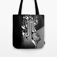 pi Tote Bags featuring PI by Artysmedia