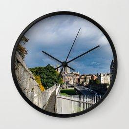 York City Roman wall and Minster Wall Clock