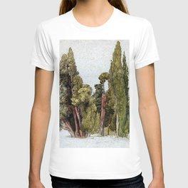 Samuel Palmer Cypresses in Tivoli T-shirt