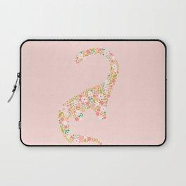 Floral Brontosaurus in Pink Laptop Sleeve