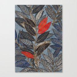 Feuilles Rouges Canvas Print