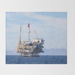 Oil Rig Throw Blanket