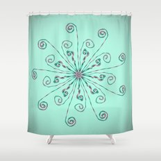 Minimalist flower mandala Shower Curtain
