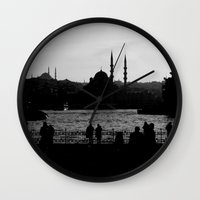 istanbul Wall Clocks featuring Istanbul by habish