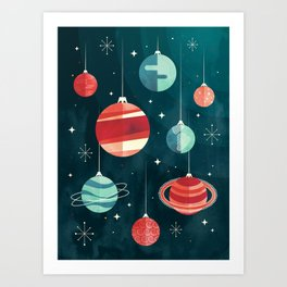 Joy to the Universe (in Teal) Art Print
