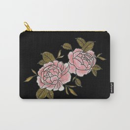 Pink Roses Watercolor Painting Pattern Carry-All Pouch
