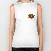 hamburger Biker Tanks featuring Hamburger by nsvtwork