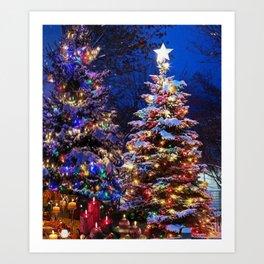 Christmas Super STAR Art Print