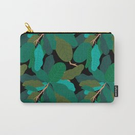 Tropicana Banana Leaves in Classic Black Carry-All Pouch