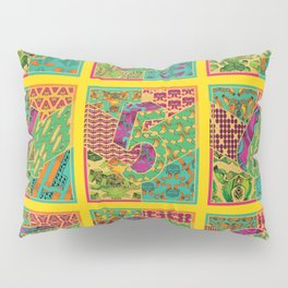 Tiles 1-9 - Yellow Pillow Sham