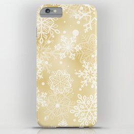 Snowflakes pattern iPhone Case