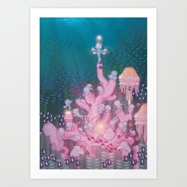 Seabed People Art Print