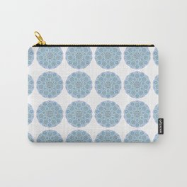 Collage of blue madalas Carry-All Pouch