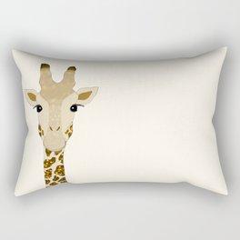 Golden Glitter Giraffe Rectangular Pillow