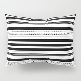 Stripes and dots pattern Pillow Sham