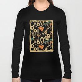 Jazz Rhythm (negative) Long Sleeve T-shirt