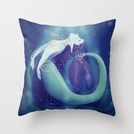 Pearl Mermaid Throw Pillow