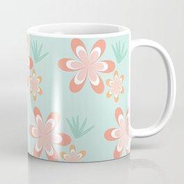 Retro Tropical Flowers Coffee Mug