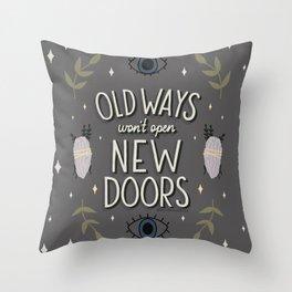 Old Ways Throw Pillow