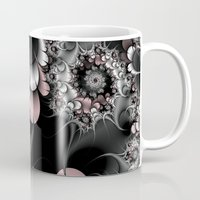 novelty Mugs featuring Widow's Web Fractal by Moody Muse