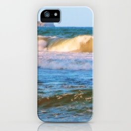 Rolling wave and headland iPhone Case