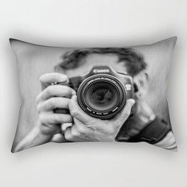 Into The Lens Rectangular Pillow