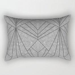 Art Deco in Black & Grey - Large Scale Rectangular Pillow