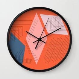Mid Century Mod in Orange Wall Clock
