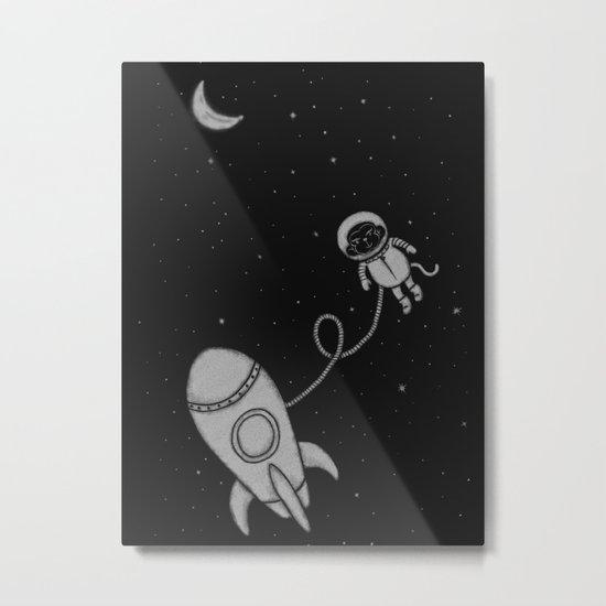 Monkey in Space Metal Print