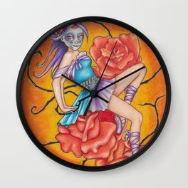 Sugar Skull Pinup #1 Wall Clock