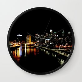 Philly St. Paddy's Day View Wall Clock