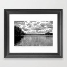 Between Lake and Sky Framed Art Print