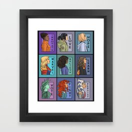 She Series - Version 2 Framed Art Print