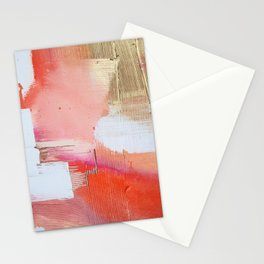 Moving Mountains: a minimal, abstract piece in reds and gold by Alyssa Hamilton Art Stationery Cards