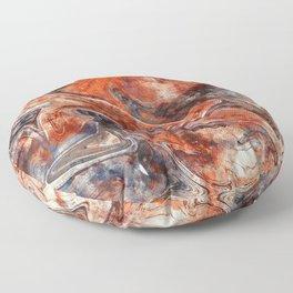 Orange marble watercolor Floor Pillow