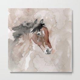 Horse - Watercolor Metal Print