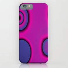 pink and purple circles abstract iPhone 6s Slim Case