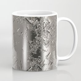 Silver Steel Abstract Metal Background Coffee Mug