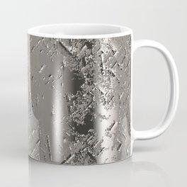 Silver Steel Abstract Metal Background Coffee Mug