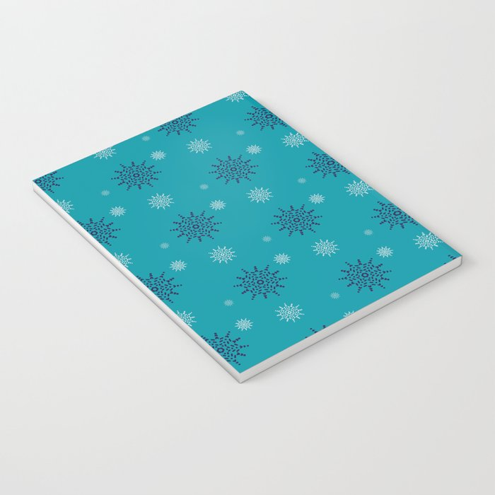 Blue and White Snowflakes Notebook
