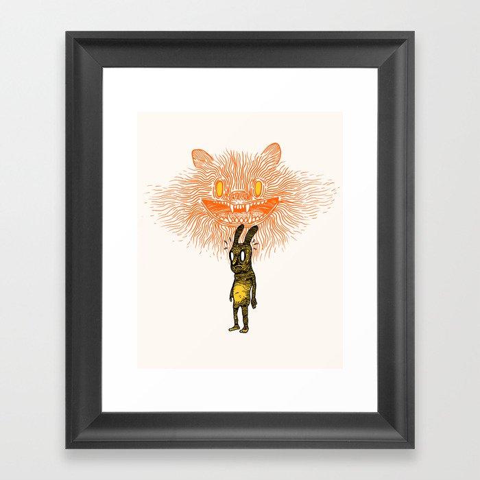 Scared Stiff Framed Art Print