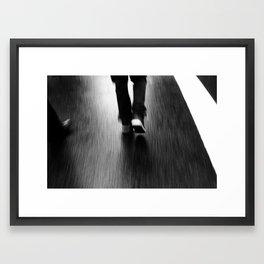Street Walking Framed Art Print