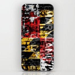 Maryland Flag Print iPhone Skin
