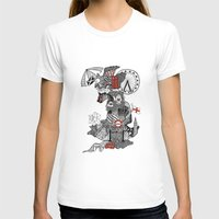 england T-shirts featuring England Doodle by Rebecca Bear